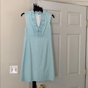 Lilly Pulitzer Blue and White Seersucker Dress